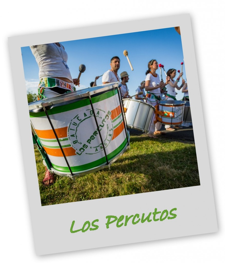Los Percutos - Batucada Angers - Photo du logo sur un sourdo