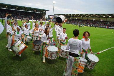 Los Percutos au Match Angers SCO - Toulouse FC